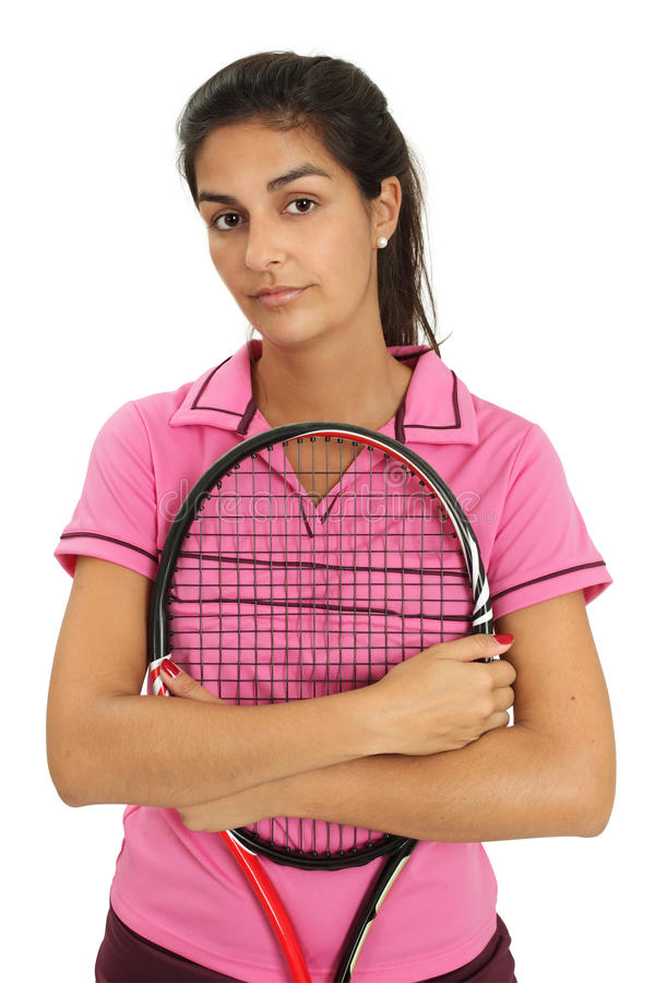 Female Tennis Player With Attitude Stock Photography