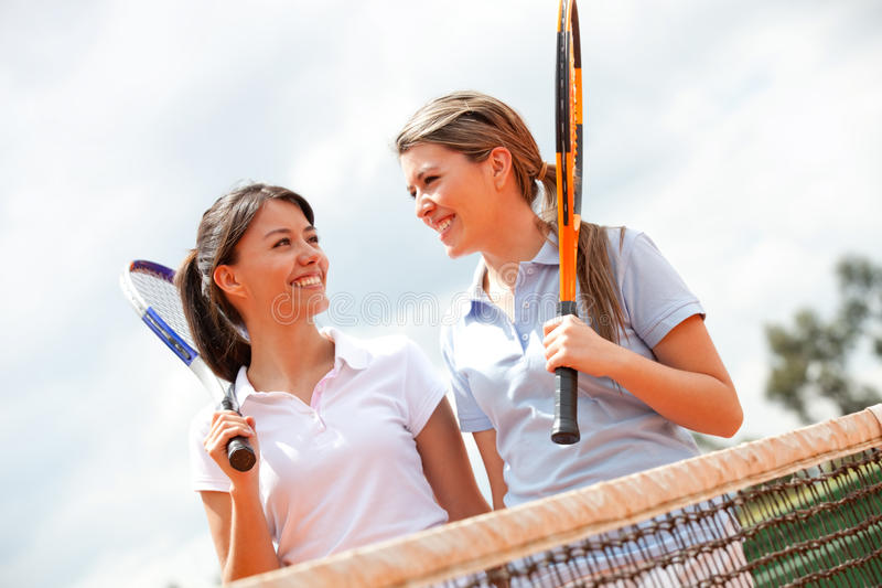 Download Female tennis players stock image. Image of game, adults - 23051889
