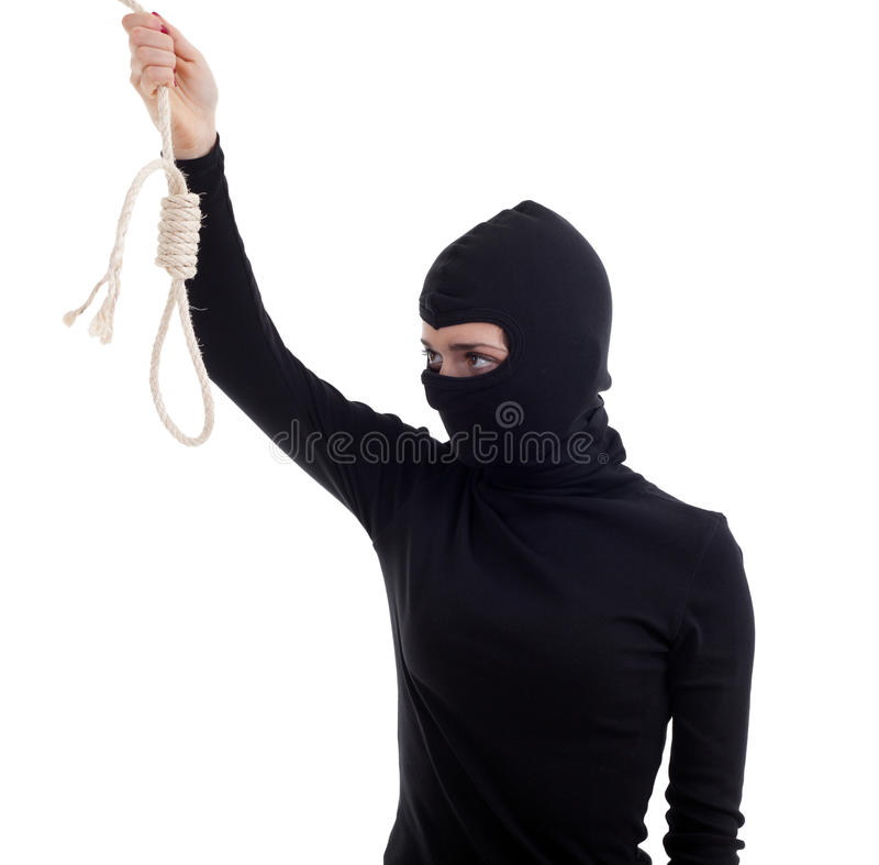 Download Female Thief Keeping Gallows Royalty Free Stock Photography - Image: 15633477