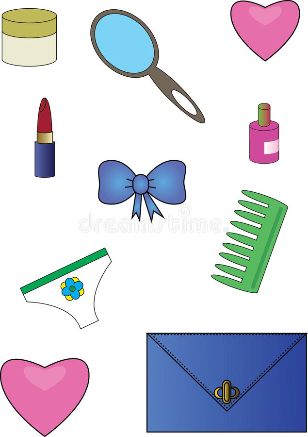 Download Female things stock vector. Image of clipart, girl, icon - 22397081