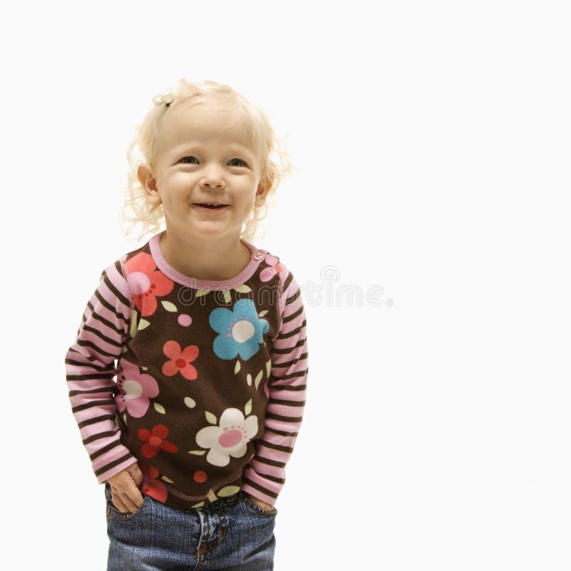 Female Toddler Laughing. Stock Photos