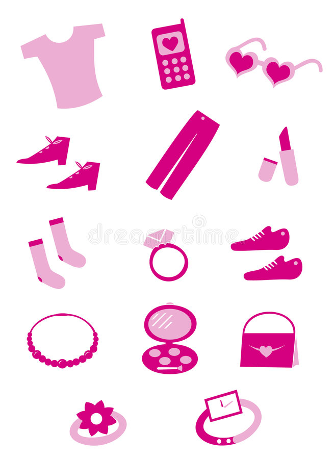 Female tools and shopping vector illustration