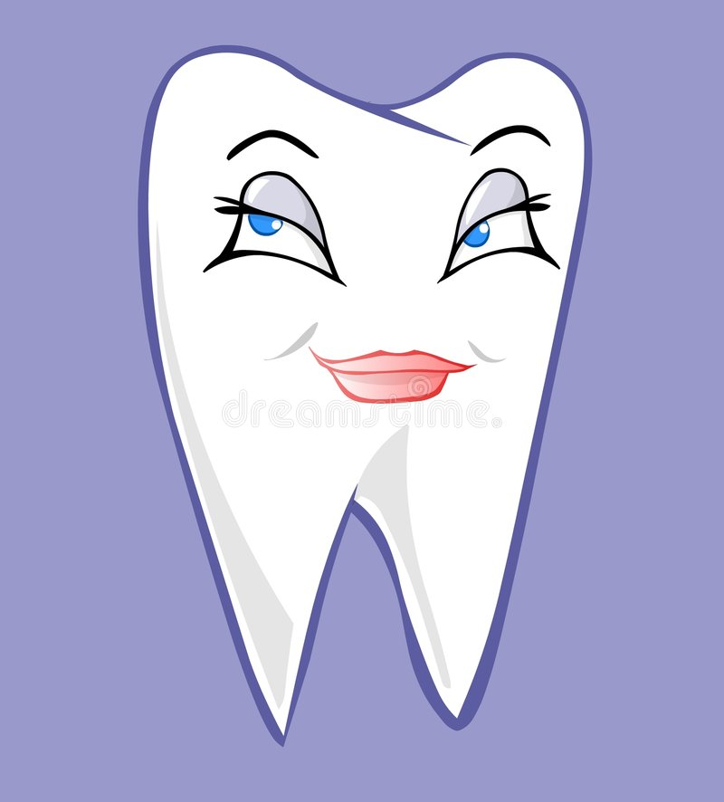 Female tooth vector illustration