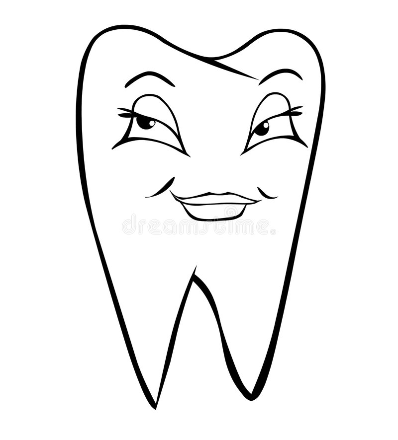 Female tooth royalty free illustration