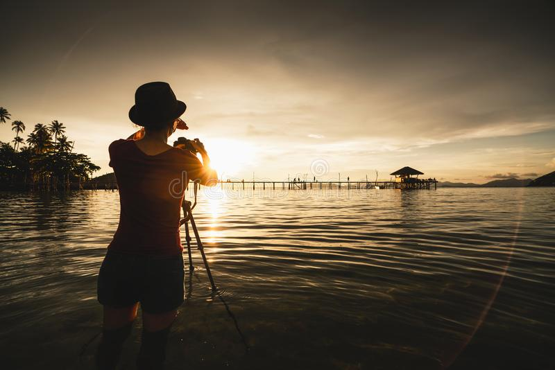Female tourist royalty free stock images