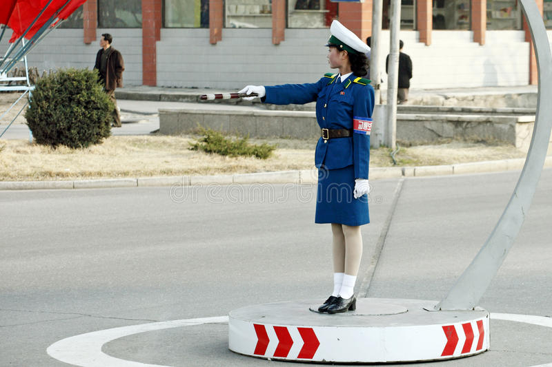 Download Female Traffic Police.DPRK Editorial Image - Image: 13956690