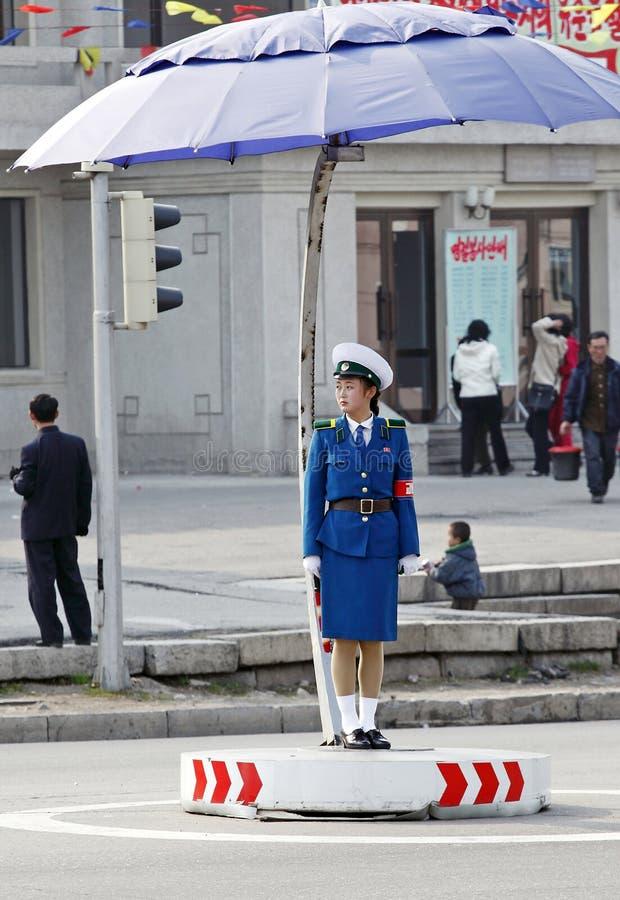 Female Traffic Police.DPRK Editorial Photo