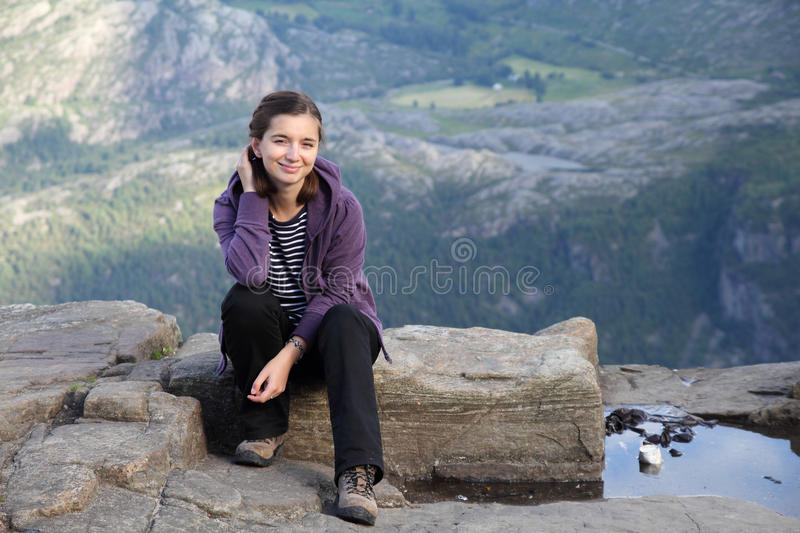 Download Female traveler stock photo. Image of resting, sitting - 16800368