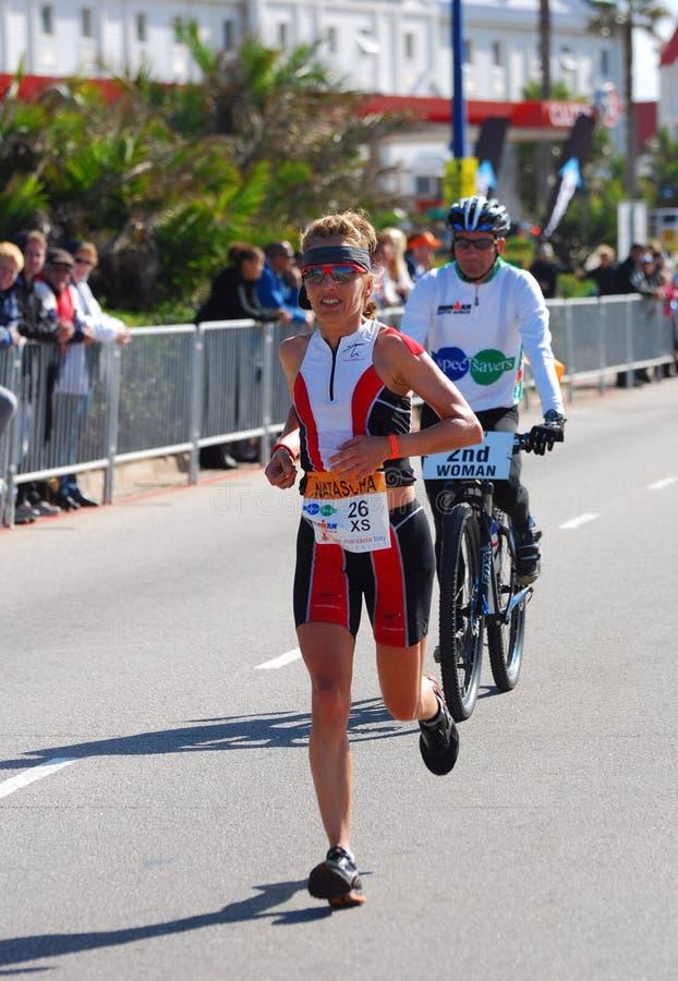 Female triathlete Natascha Badman stock photos