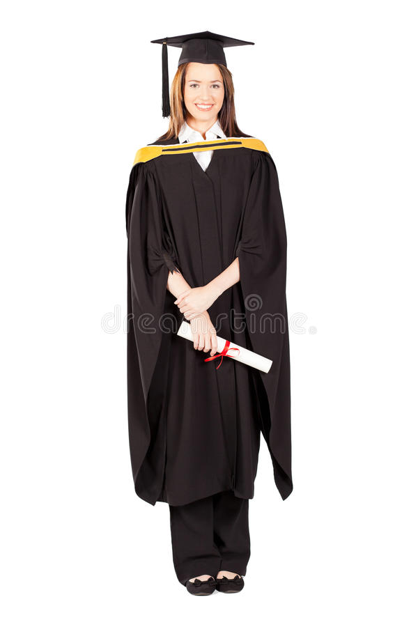 Female university graduate royalty free stock photos