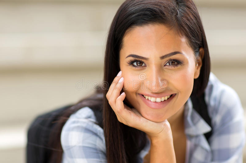 Female university student closeup stock photos