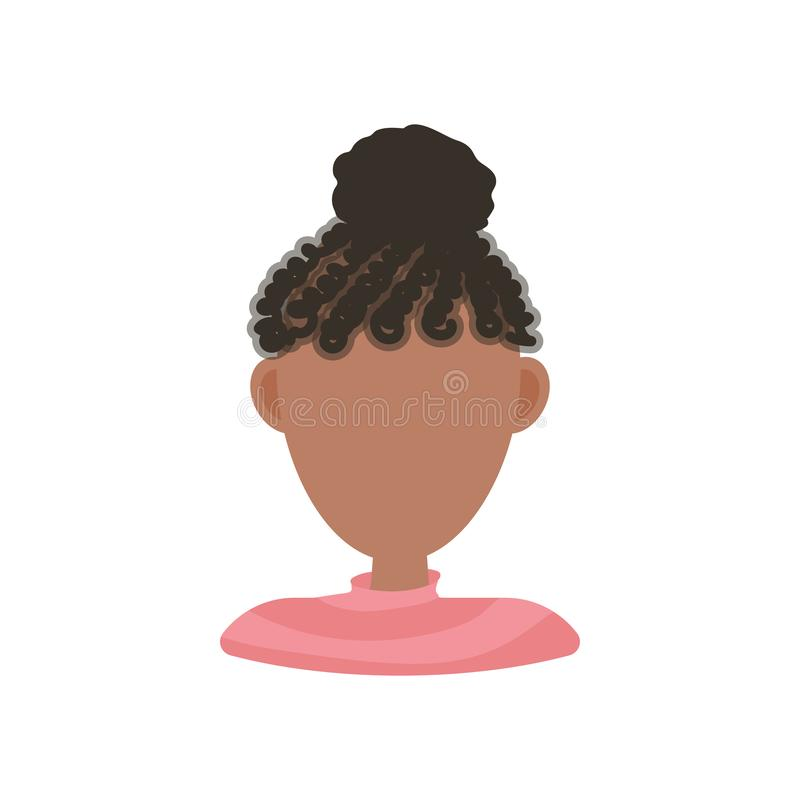 Female user avatar profile picture icon. Isolated vector illustration in flat design people character on white background. royalty free illustration