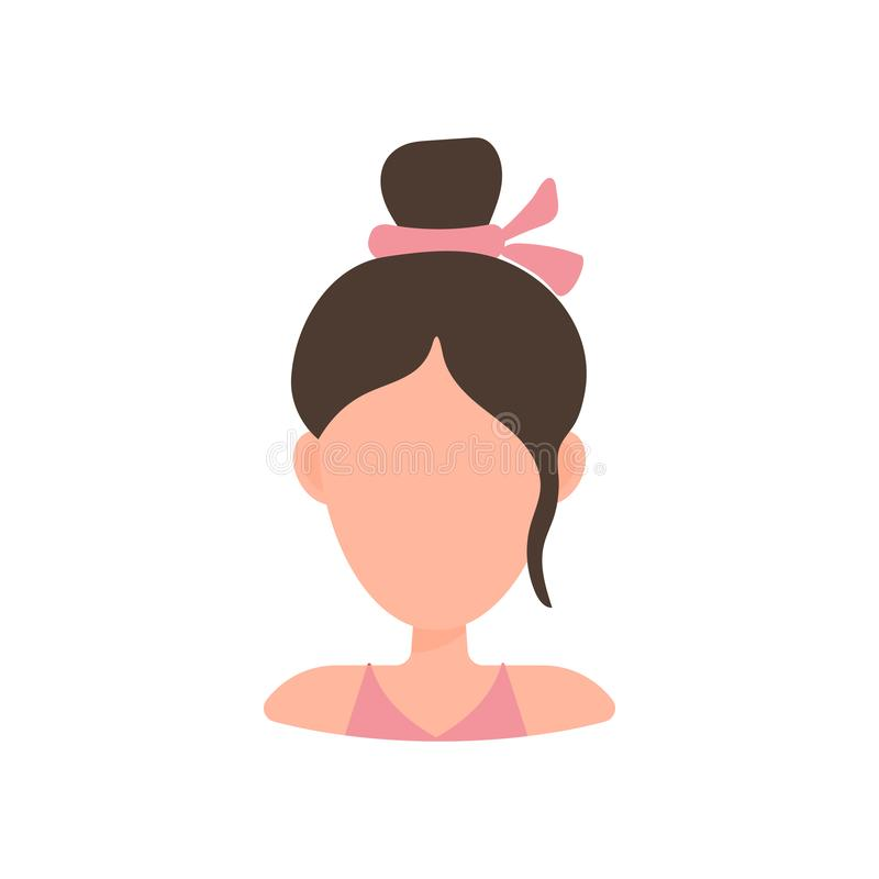 Female User Avatar Profile Picture Icon Isolated Vector