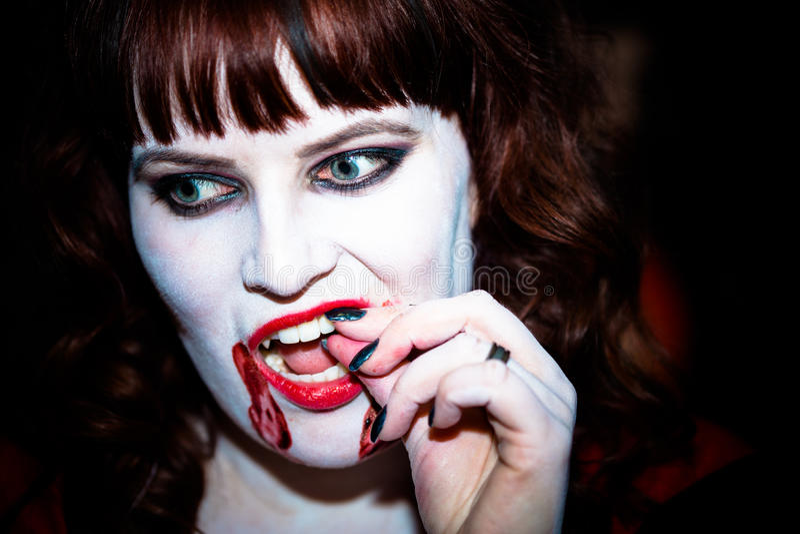 Download A female vampire. stock image. Image of evil, erotic - 27385365