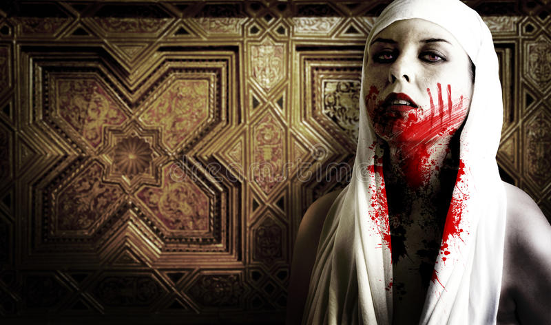 Download Female Vampire With Blood Stains Stock Photo - Image: 16169062