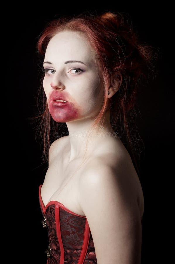 Female vampire. Portrayed as a glamorous vamp stock photography