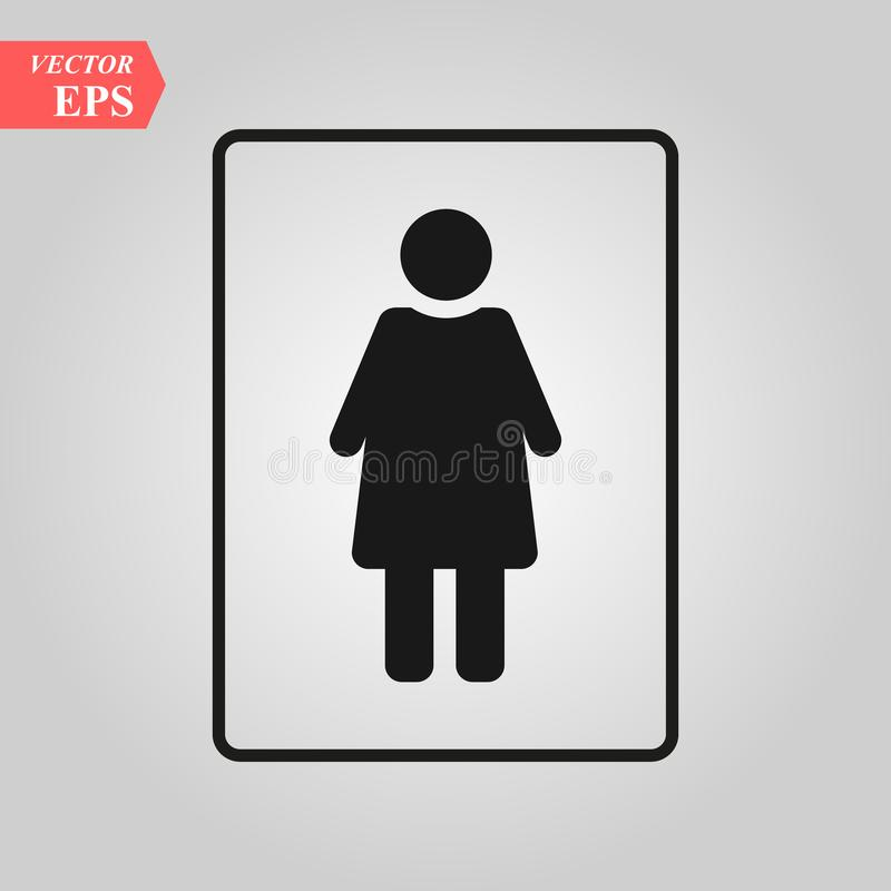 Female vector icon. woman toilet icon vector, sex. gender,girl,boy.wc.door plate symbol vector illustration for web and royalty free illustration