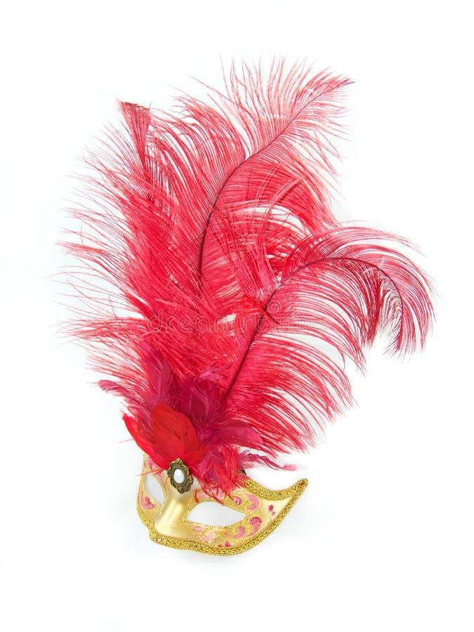 Female Venetian mask stock photo
