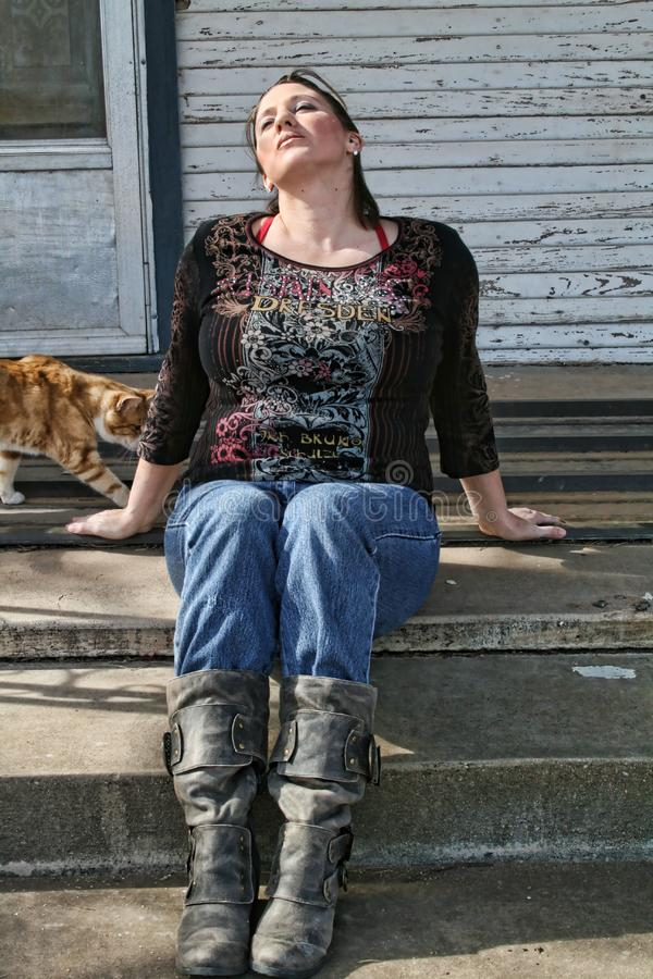 Download Female Waiting stock photo. Image of boots, waits, jeans - 7838742