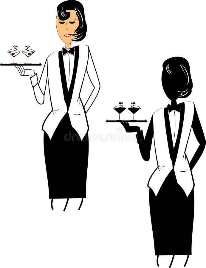 Free Female Waitress Royalty Free Stock Photos - 22473308