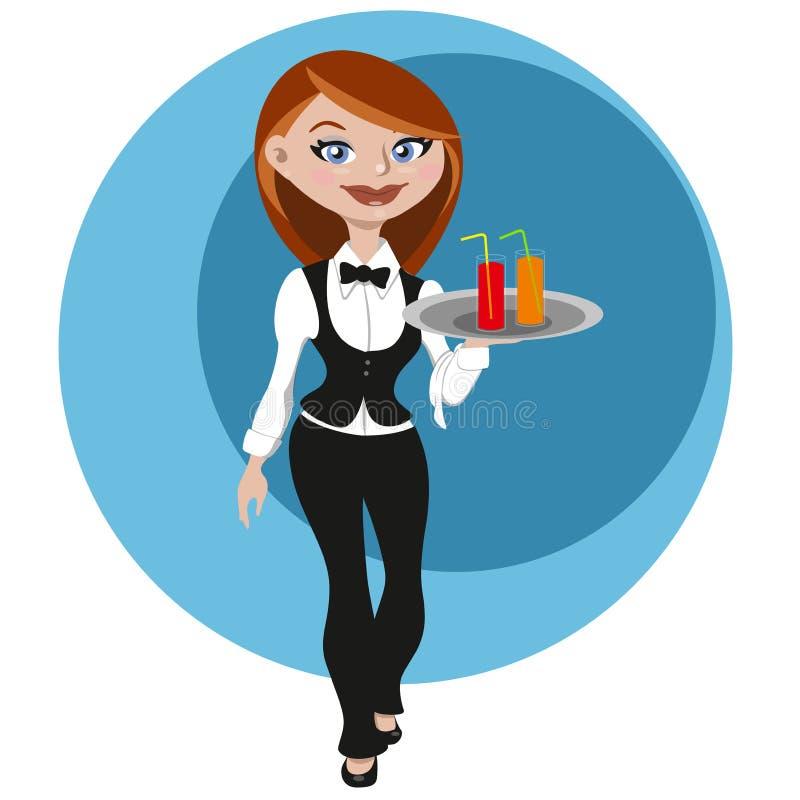 Free Female Waitress Stock Photo - 24593640