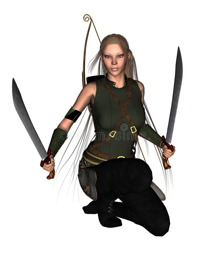 Female Warrior - 1 stock illustration