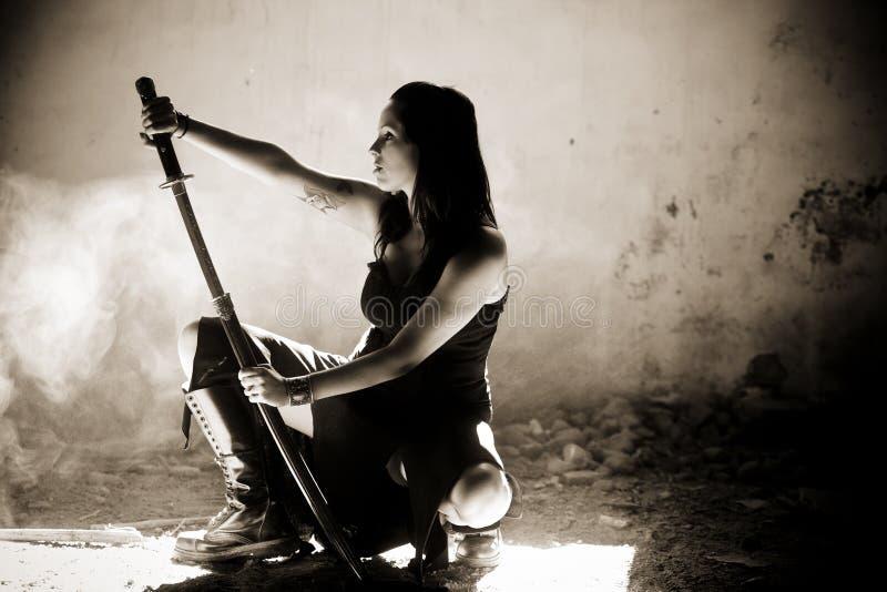 Female warrior royalty free stock image