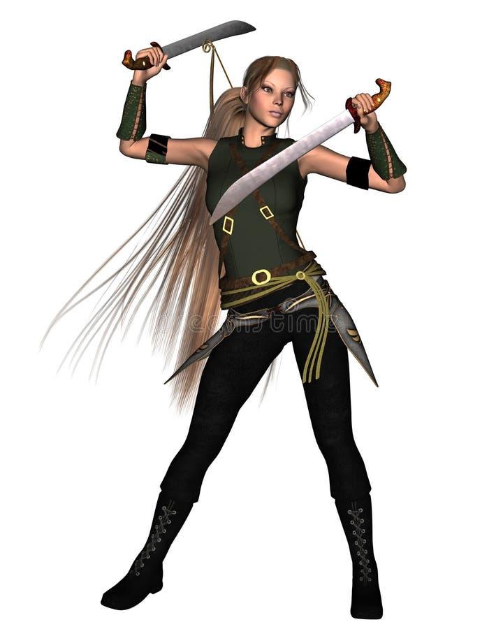 Download Female Warrior - 2 stock illustration. Illustration of boots - 5841619