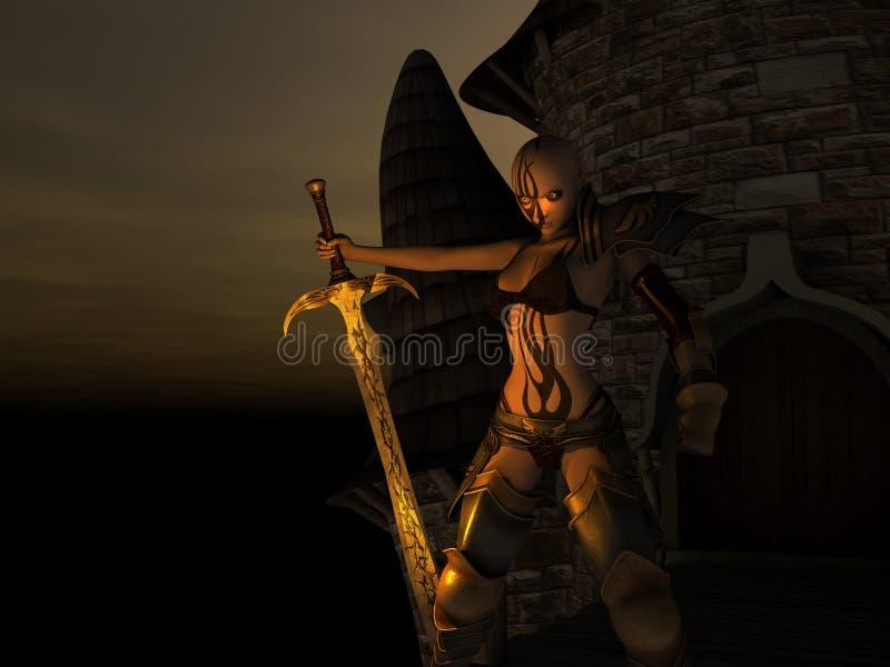 Download Female warrior stock illustration. Image of witch, sorcerer - 8634445
