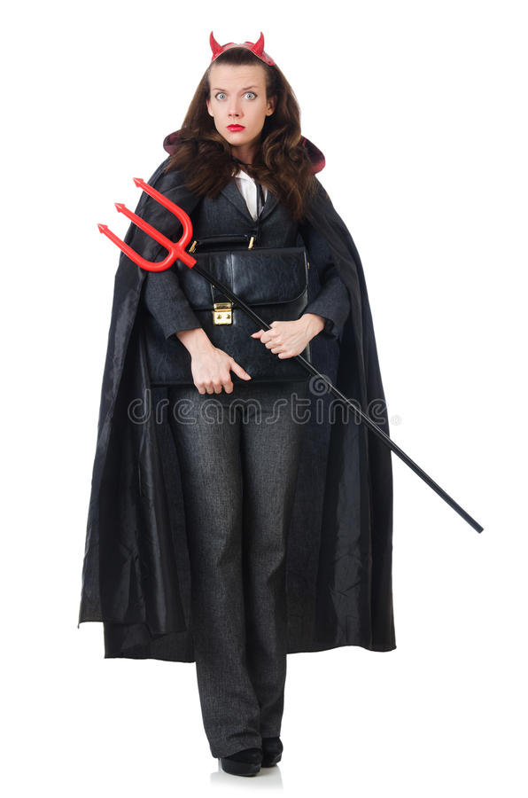 Download Female Wearing Devil Costume Stock Image - Image: 33764029