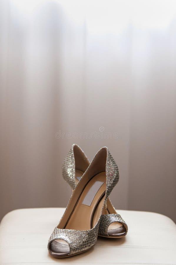 Female wedding footwear royalty free stock image