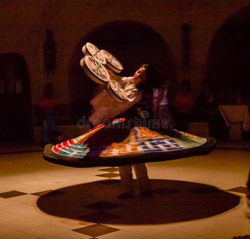 Female Whirling Dervish Turkey royalty free stock photography