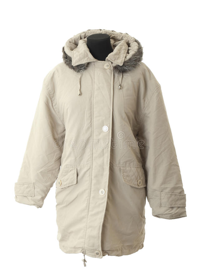 Free Female Winter Coat | Isolated Royalty Free Stock Photography - 15820847