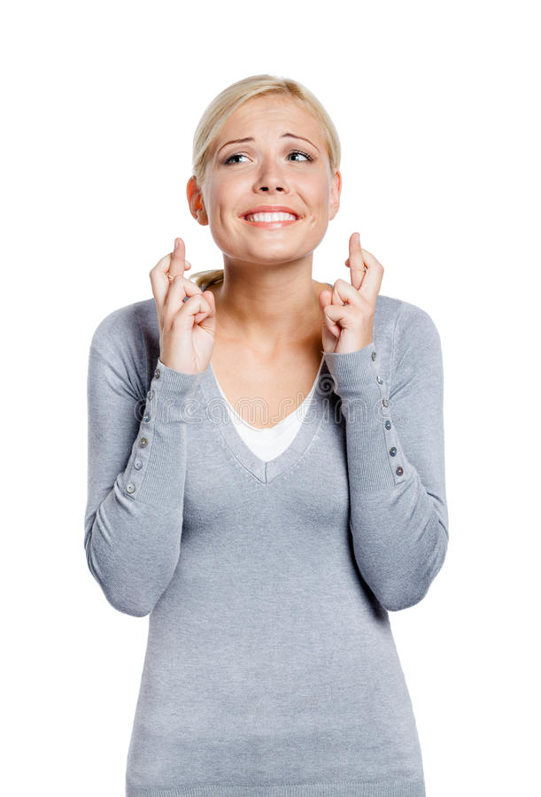 Free Female With Fingers Crossed Stock Photo - 29814670