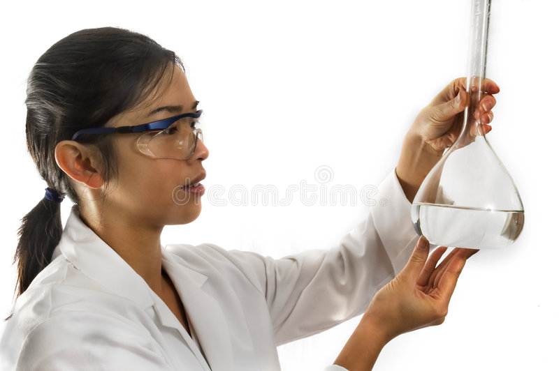 Female worker/scientist royalty free stock photography