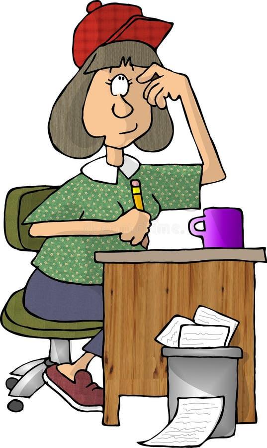 Female writer vector illustration