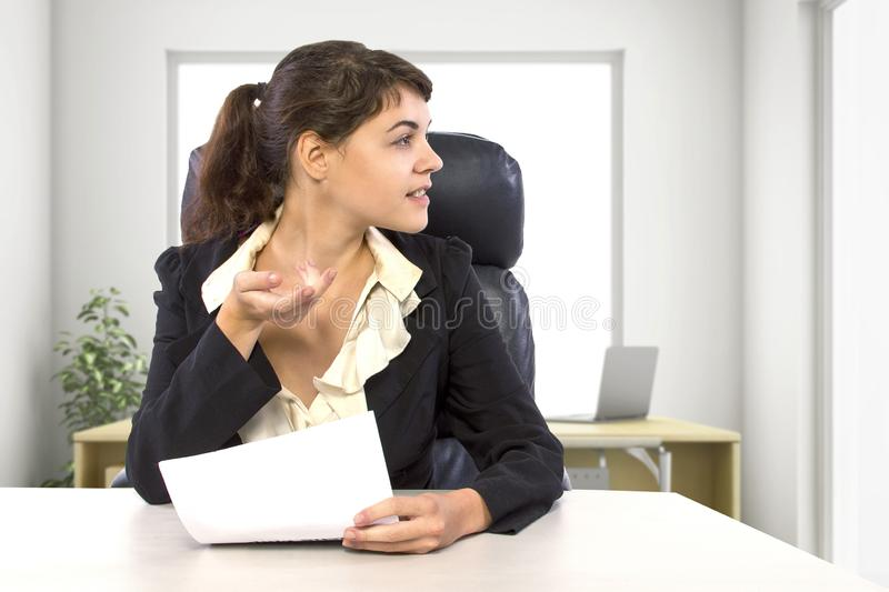 Female Writer Intern in an Office royalty free stock photos