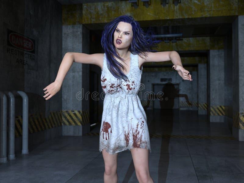 Female zombie royalty free stock photography