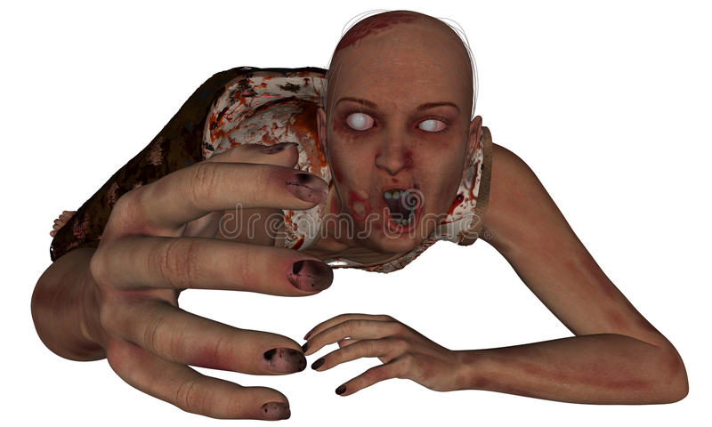 Download Female Zombie Reaching stock illustration. Illustration of dirty - 27034491