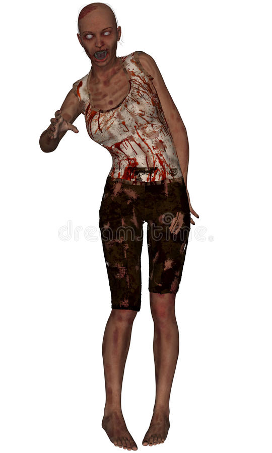 Download Female Zombie Standing stock illustration. Image of graphic - 27034503