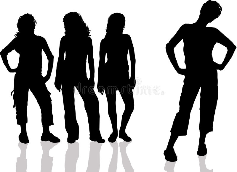 Females with attitude royalty free stock image