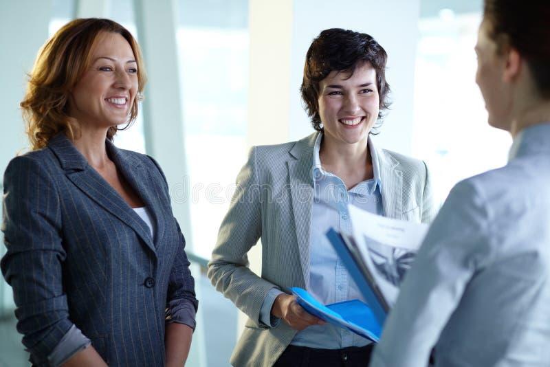 Females Talking Royalty Free Stock Photos