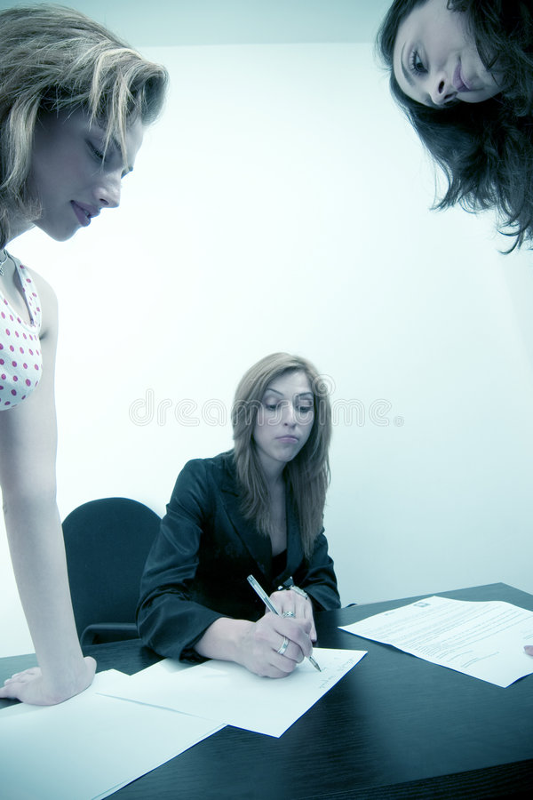 females working stock photos
