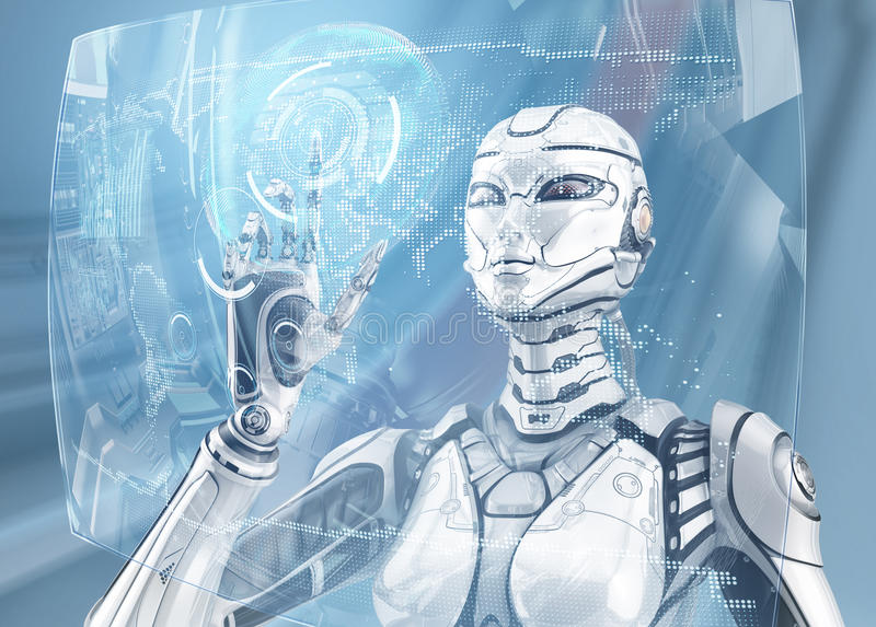 Fembot kobiety robot ilustracja wektor
