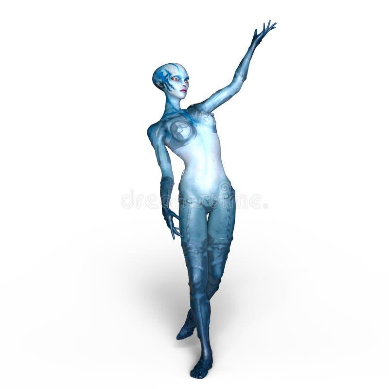 femelle étrangère illustration stock