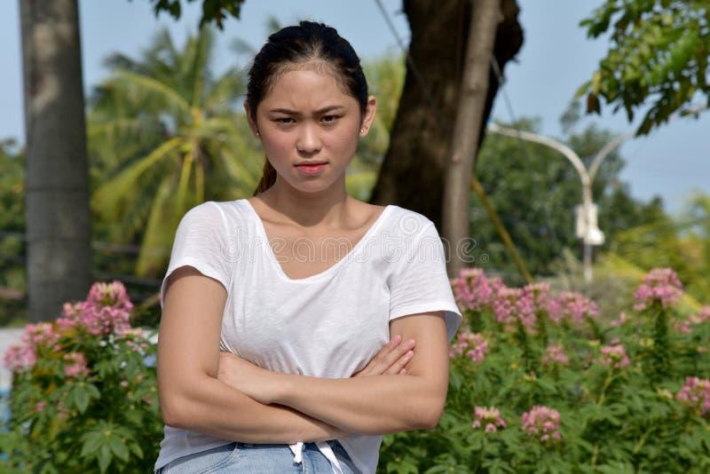 Femelle adulte asiatique têtue images libres de droits