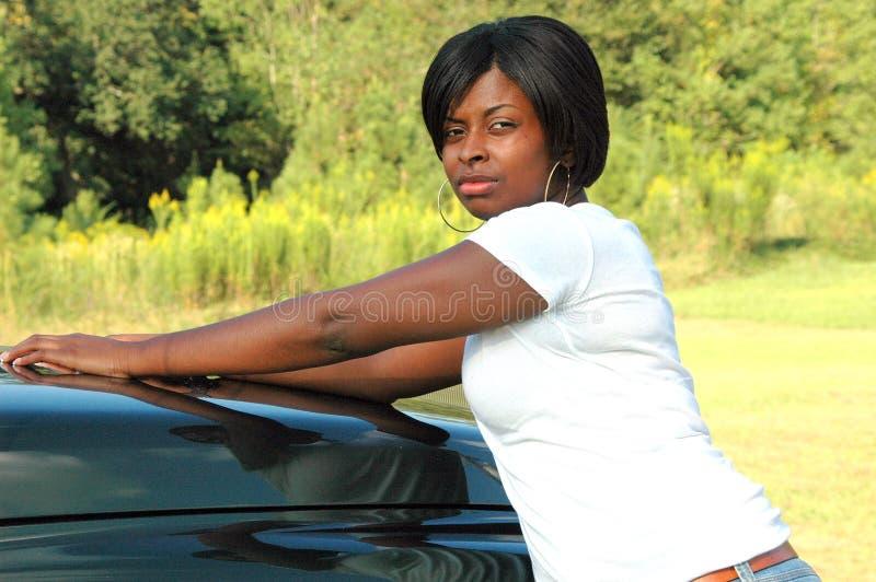 Femelle d'Afro-américain. photographie stock