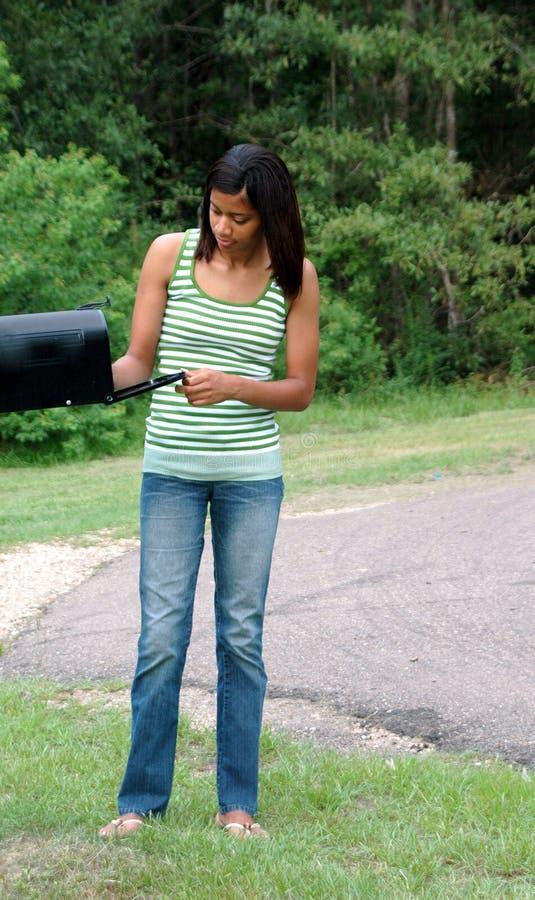 Femelle d'afro-américain image libre de droits