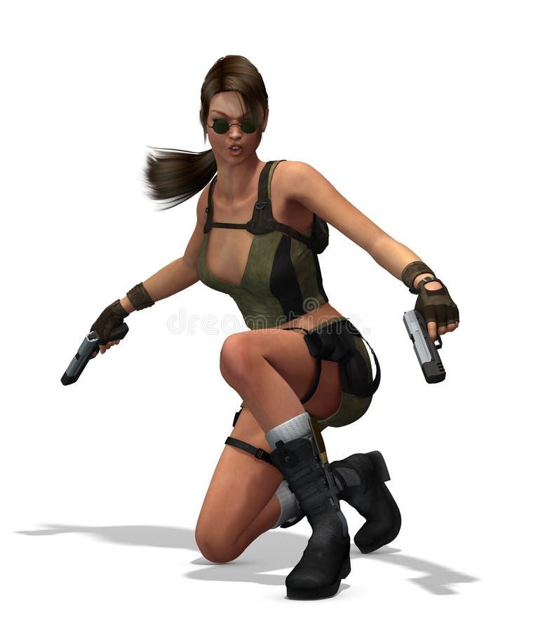 femelle d'assassin illustration de vecteur