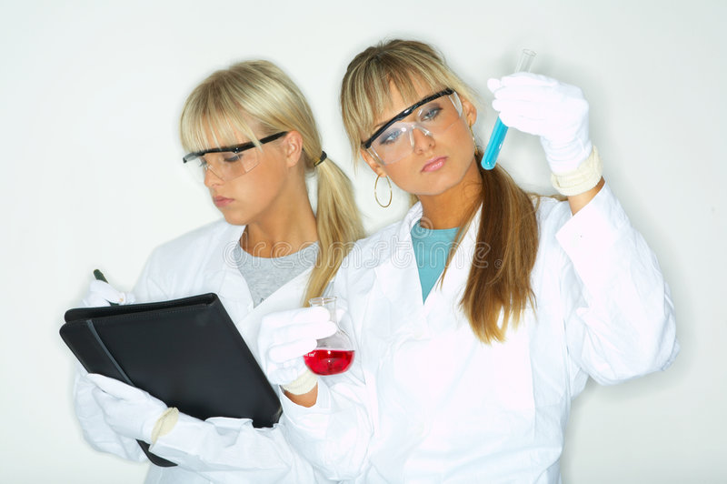 Femelle dans le laboratoire photos libres de droits